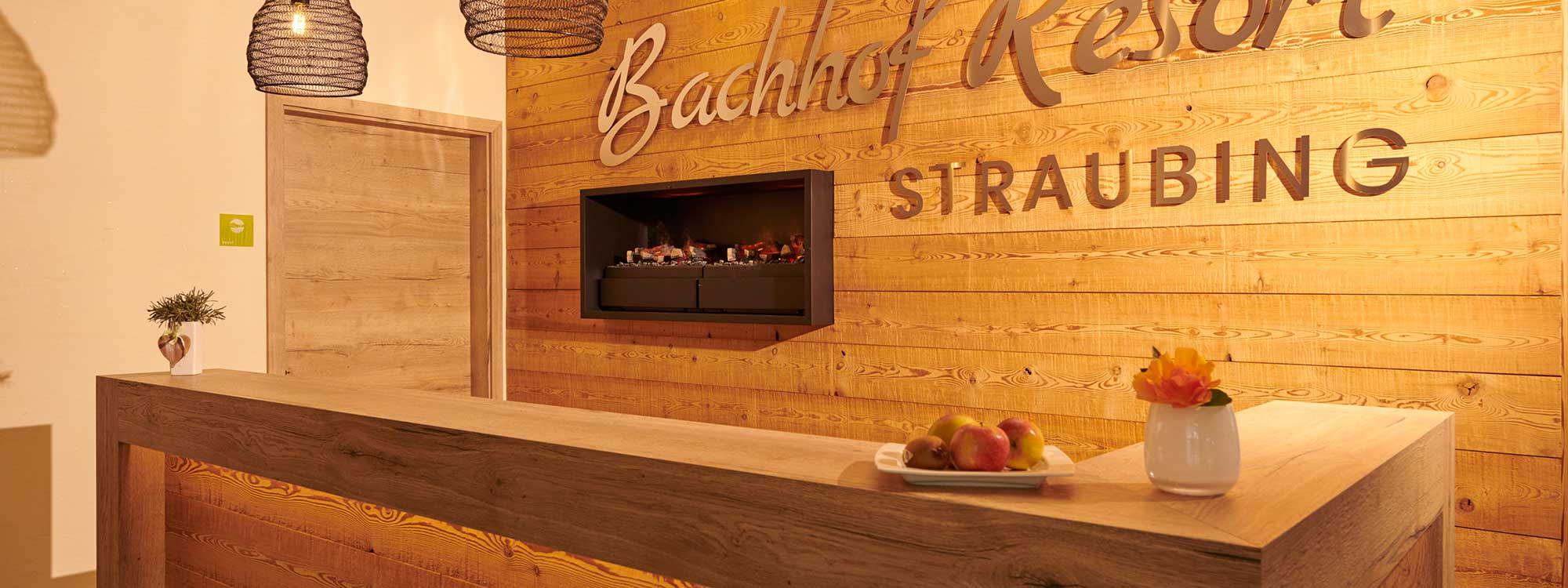 Rezeption im Bachhof Resort Straubing